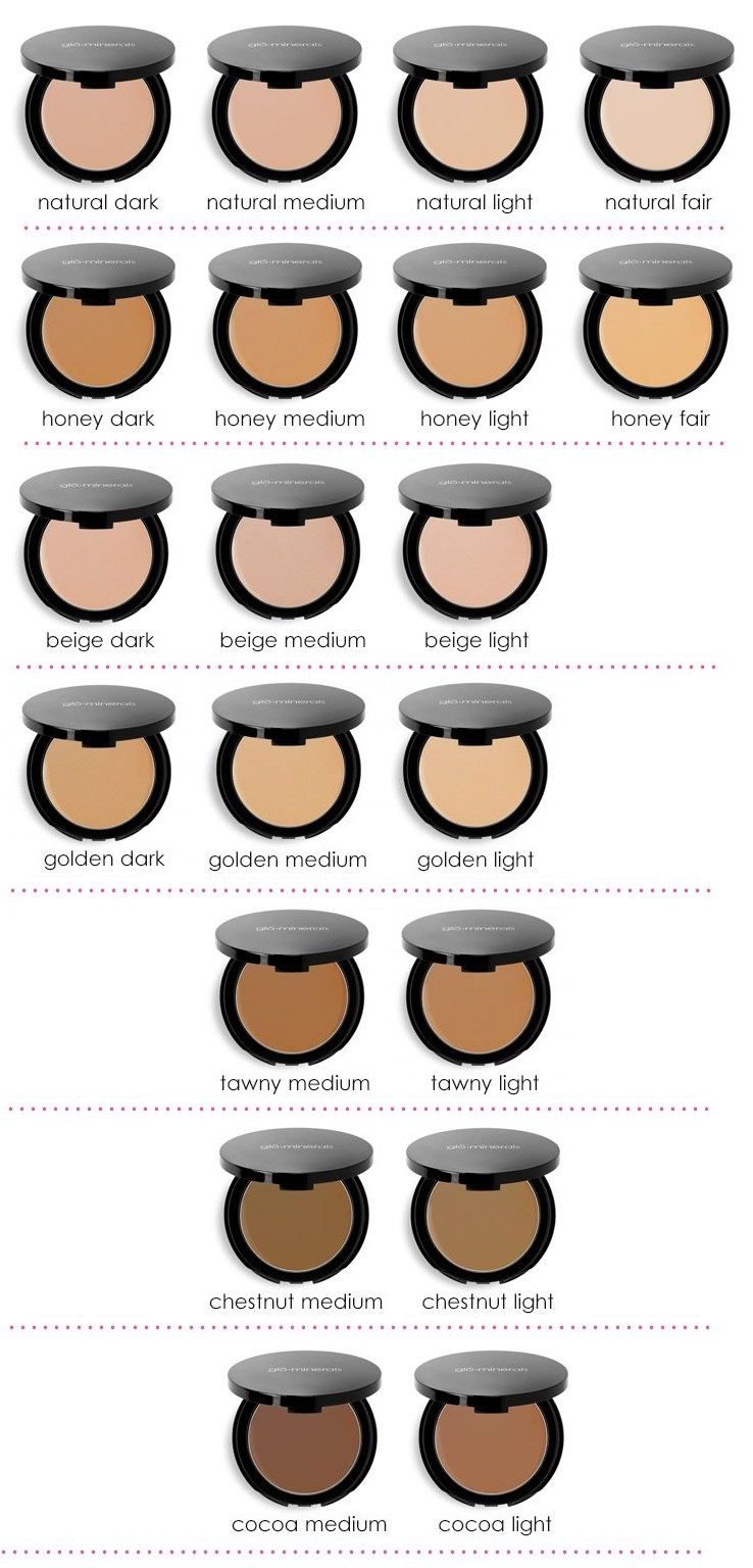 Glo Minerals Pressed Base Color Chart