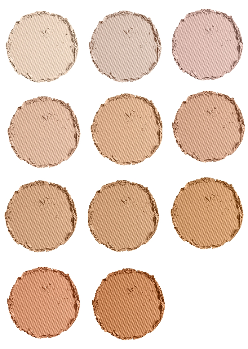 Pür Minerals 4-in-1 Pressed Mineral Powder Foundation Color Chart