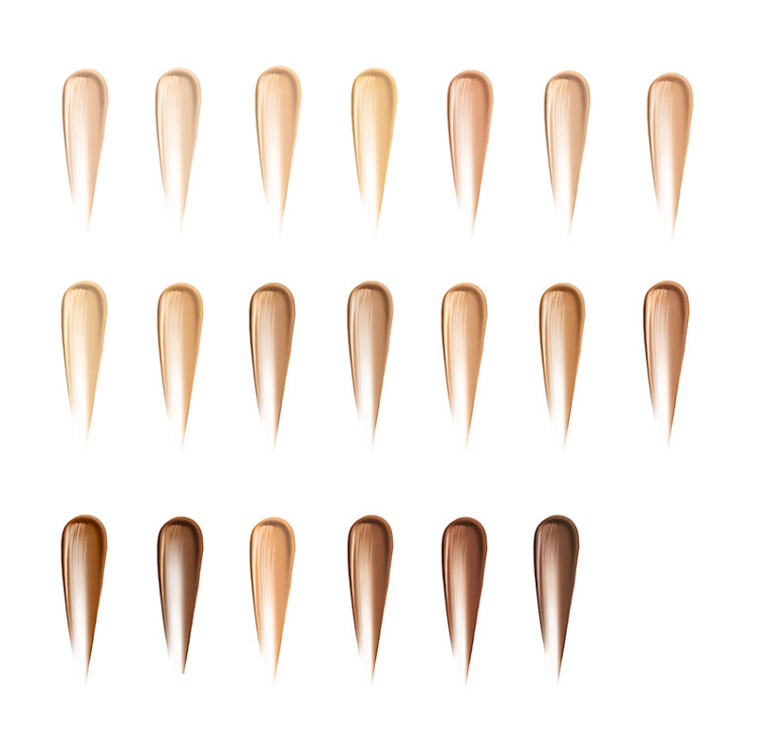 Color Chart -Bare Minerals Complexion Rescue Tinted Moisturizer Hydrating Gel Cream