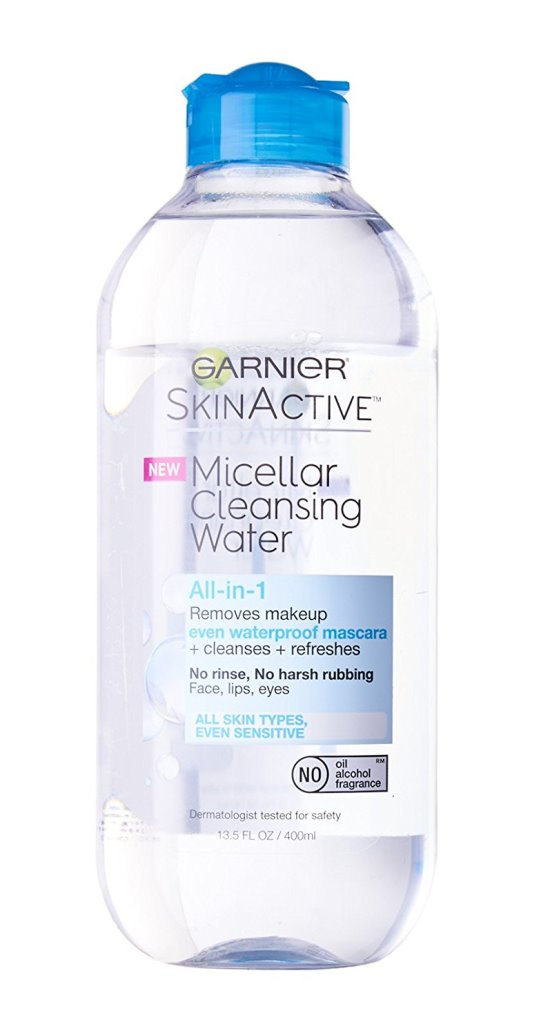 Garnier SkinActive Micellar Cleansing Water for waterproof makeup